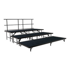 Carpeted Multi-Level Portable Performance Stage Set By National Public Seating