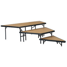 3-Level Portable Performance Stage Set With Hardboard Surface By National Public Seating