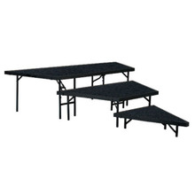 3-Level Portable Carpeted Performance Stage Set By National Public Seating