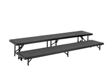 Multi-Level Portable Stage Straight Risers With Carpeted Surface (NP-RSLC)