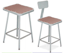 Square Science Lab Stools With Optional Backrest