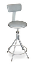 Premium Height Adjustable Swivel Stool With Padded Seat and Backrest