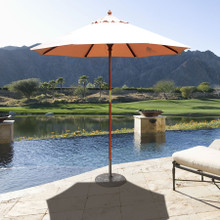 Galtech 7.5-ft. Wood Cafe Style Umbrella With Manual Lift, Model 121-221