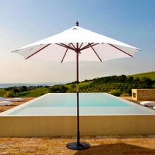 Galtech 9-ft. Wood Umbrella With 2 Pulley Lift, Model 132-232