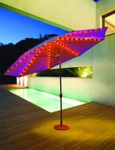 Galtech 11-ft. Aluminum Frame Market Umbrella L.E.D. Lighted Autotilt Crank Lift Model 986AB - Free Shipping - Multiple Colors