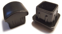 """100 pk - Square Rocker Leg Inserts for Stacking Chairs 3/4"""" or 13/16""""- 16 to 18 Gauge Frame"""