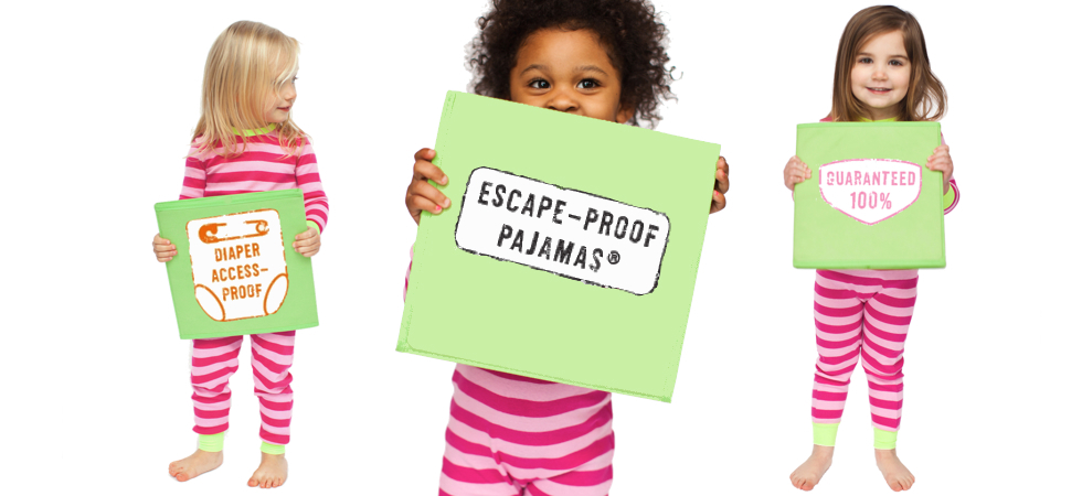 Diaper access-proof pajamas