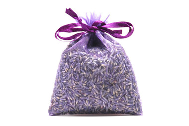 Lavender-Filled Sachet - Purple Organza Fabric