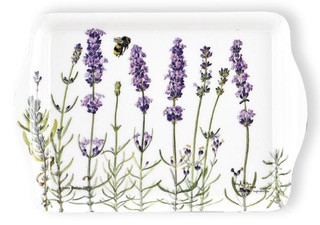 Snack Tray with Lavender Motif