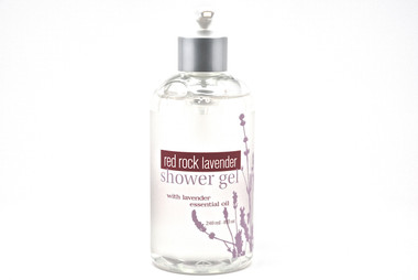 Lavender Shower & Bath Gel Ingredients:  Organic Aloe Leaf Juice (Aloe Barbadensis), Sodium Lauryl Sulfoacetate, Cocamidopropyl Betaine, Disodium Laureth Sulfosuccinate, Glycerin, Lavender Essential Oil (Lavandula Angustifolia), Phenoxyethanol, Tetrasodium Glutamate Diacetate.  Vegan -  Paraben-Free - Phthalate-Free -Sulfite Free