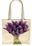 Tote Bag with Lavender Bouquet