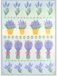 Tea Towel - Swedish  Lavender  - Pots