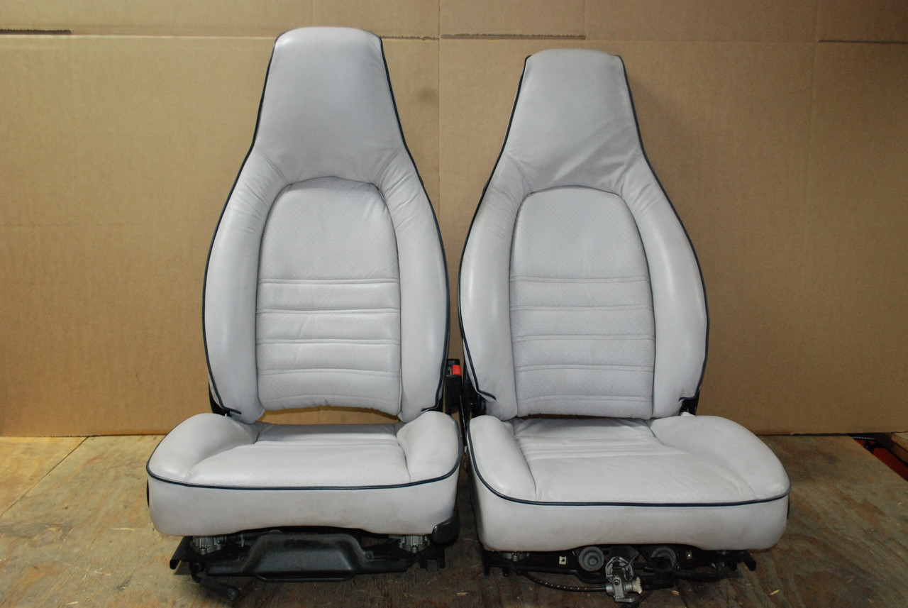 Porsche 911 964 993 8 Way Power Sport Leather Seats Pair 2