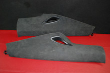 Porsche 911 991 Quarter Panel Trim C Pillar Covering Suede 99155518701 Pair (2) 99155518801