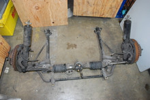 Porsche 911 930 Complete Front Suspension - Struts, Cross Member, Hubs, Pinion