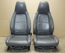 Genuine Porsche 911 993 Carrera Seats Gray Leather Pair LEFT RIGHT Grey