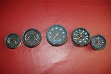 Porsche 911 993 Carrera S Gun Metal Gray Rare Instrument Gauges 5-Pcs Set OEM