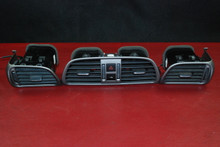 Porsche 911 997 Carrera AC Dash Nozzle Air Vent Duct Matte Grey Set 3 Vents Gray