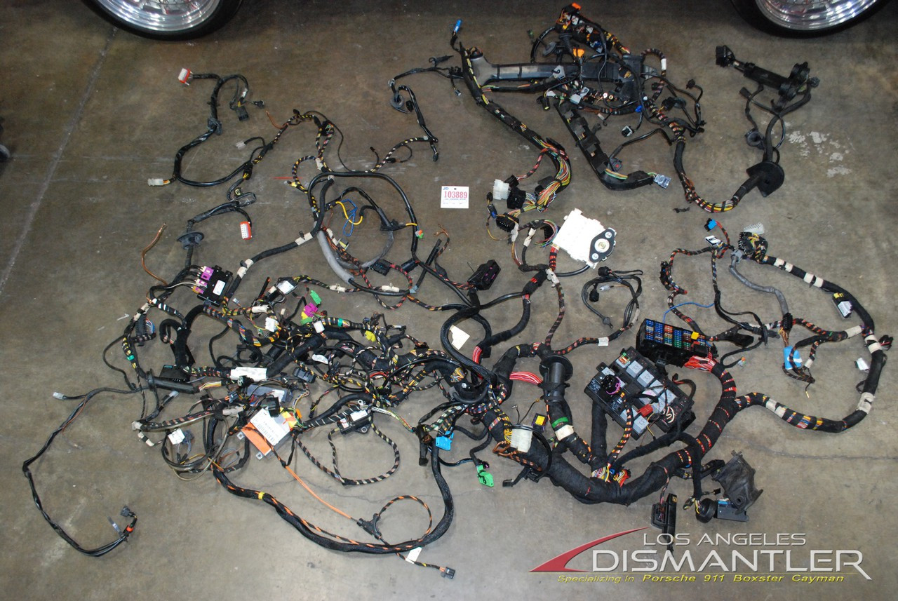 porsche 911 996 turbo manual cabriolet complete chassis wire wiring Electrical Wire Harness categories