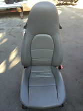 Driver Side Perf Leather 8-way Power Porsche 996 Seat Grey
