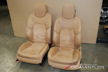 03-10 Porsche Cayenne GTS Front Left Right Seats Tan Leather w/ Rear LCD Screens
