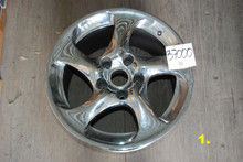 Porsche Set of 4 911 996 Chrome Wheels 8x18 ET50  11x18 ET45  99636214201  99636213601