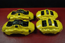 Porsche 911 997 GT3 Calipers Only Set Yellow 6 Piston Brembo Turbo GT2