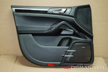 Porsche 958 Cayenne Left Front Drivers Side Interior Door Panel Trim Black OEM