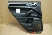 Porsche 958 Cayenne Left Rear Drivers Side Interior Door Panel Trim Black OEM