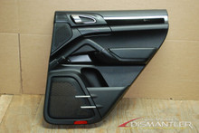Porsche 958 Cayenne Right Rear Passenger Side Interior Door Panel Trim Black OEM