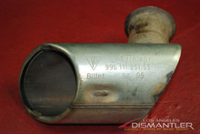 Genine Porsche 911 996 Carrera LEFT Driver Side Exhaust Tip Muffler 99611125155