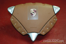 Porsche 955 Cayenne Tan Steering Wheel Airbag With Controls 7L5880201DD 3U9 OEM