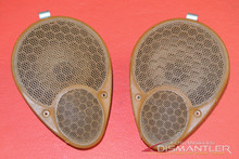 Porsche 911 996 Left Right Dash Dashboard Speaker Covers Brown Leather OEM