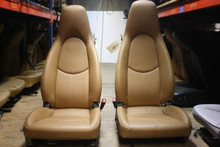 Porsche 997 911 Perforated Tan Front Seats Manual/Power