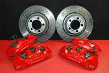 Porsche 911 991 GT3 Brake Calipers Set Front Rear Brembo Big Red + Rotors OEM