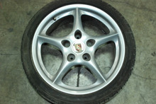 "Porsche 996 MY02 5-Spoke Wheel 7.5x18 ET50 99636213405 18"" OEM Rim"