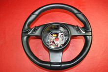 Porsche 970 Panamera Black PDK Steering Wheel + Phone Switches 97034780312 OEM