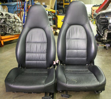 Porsche 911 996 Carrera Turbo GT2 GT3 Boxster seats Black Supple Leather 2 way