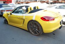 2013 Yellow Porsche 981 Boxster