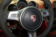 Porsche 911 997 987 Boxster Steering Wheel Airbag Black Round Sport Leather