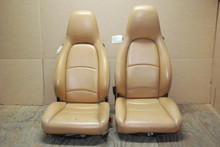 Porsche 911 993 Carrera Seats Tan Perforated Leather 4x8 way