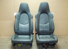 Porsche 911 997 Sport Seats Grey Leather w/ Crest