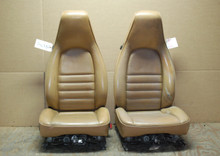 Porsche 911 964 Carrera Tan Perforated Leather Seats 8x8 way power OEM