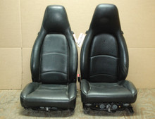 Porsche 911 993 Carrera Black Perforated Leather Seats 8x8 way power OEM