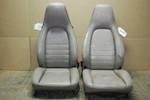 Porsche 911 964 Carrera Mauve Perforated Leather Seats OEM