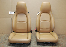 Porsche 911 993 Carrera Tan Perforated Leather Seats 4x4 way power OEM