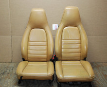 Porsche 911 964 Carrera Tan Perforated Leather Seats manual & 4 way power OEM