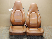 Porsche 911 996 Carrera Brown Perforated Leather Seats OEM
