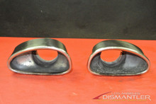 Porsche 911 996 996TT Turbo Exhaust Tips Tip Pair Left Right RARE OEM Boysen