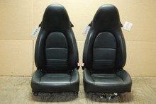 Porsche 911 Turbo 996 Carrera Black  Perforated Leather Seats OEM
